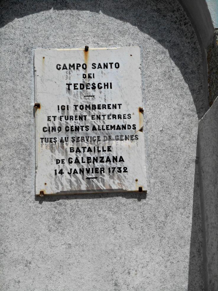 Tablica pamiątkowa na placu przy kościele Saint-Blaise.