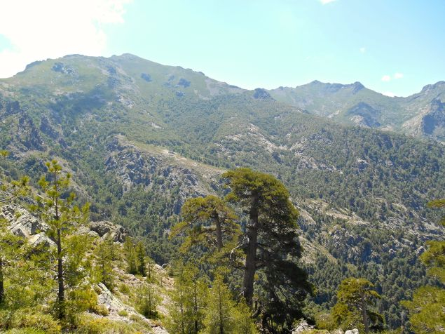 Kolejny widok na Monte Corona oraz schronisko. Po prawej stronie Capu Gianonne (1868 m).