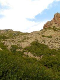 …aż do momentu, gdy moim oczom ukazuje się przełęcz Bocca di Pisciaghja (1940 m).