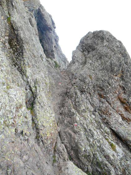 Kierunek Bocca di L'Innominata. Szlak cały czas wymaga skupienia, kijki przymocowuje do plecaka i ruszam do przodu. Schodząc w stronę przełęczy słyszę za sobą kroki i dochodzę do wniosku, ze znajduje się za mną grupka, która ma szybsze tempo. Szlak jest wąski, wiec kontynuuje trasę i w trudnych miejscach podpieram się dłońmi, bo zejścia są strome. Jeden z wędrowców rozpędzony swym tempem wbija kijki tuż za moimi podparciami, mówię, żeby poczekał chwile i go przepuszczę, co robię po kilku krokach. Jego koledzy są dalej za mną. Dochodzę spokojnie do przełęczy, widzę dwóch chłopaków, którzy siedzą przy niej, a trzeci schodzi za nami. Nagle słyszymy huk, chłopcy się odwracają, krzyczą do kolegi…zero odzewu. Szybko wstają i sprintem podbiegają około 100 metrów. Po kilku minutach jeden z nich zbiega i pyta się mnie czy wiem jak daleko jest do schroniska, wg przewodnika około półtorej godziny, ale informuje go, że jest to dość strome zejście po kamieniach (640 m w dół). Pytam się czy wszystko ok z kolegą, słyszę, że nie wiedzą dokładnie. Zostawiam plecak i kieruje się w górę sprawdzić czy to coś groźnego. Chłopak jest w lekkim szoku, okazało się, że stracił równowagę i przeciążony plecakiem poleciał fikołkiem do przodu. Mówię mu, że miał dużo szczęścia, że głowie nic się nie stało. Patrzę na nogi – krwiak na rzepce i na zewnętrznej powierzchni stawu kolanowego oraz w okolicach górnej części kości strzałkowej. Druga noga bez obrażeń, ale w ciągłym skurczu mięśnia czworogłowego. Krótkie badanie – palpacja, bierna mobilizacja stawu, próba skurczu mięśnia czworogłowego poturbowanej kończyny – złamania nie ma, myślę o skręceniu stawu kolanowego wraz ze stłuczeniem. Koledzy zajmują się opatrunkiem i dwóch z nich decyduje się na szybkie zejście do schroniska i wezwanie pomocy, dwóch pozostałych zostaje z chłopakiem. Ja kontynuuję zejście i już przy schronisku słyszę odgłos helikoptera. Po dojściu do schroniska dowiem się od jednego z chłopaków, że ich kolega został przewieziony d