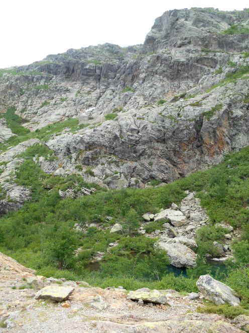 Widok na jezioro Muvrella (lavu di a Muvrella).