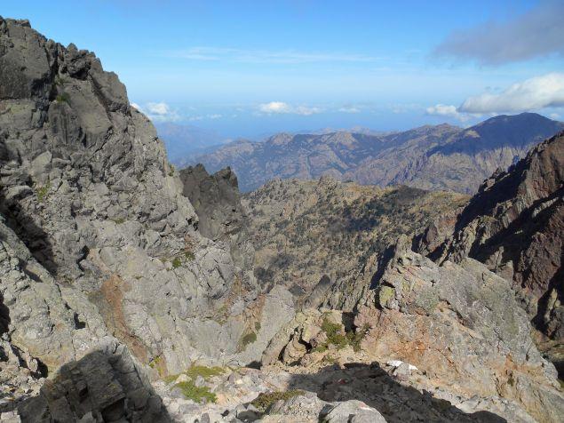 Widok z przełęczy Bocca Minuta (2218 m) – kierunek północny-zachód.
