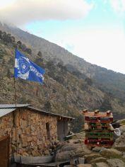Flaga klubu piłkarskiego Bastii.