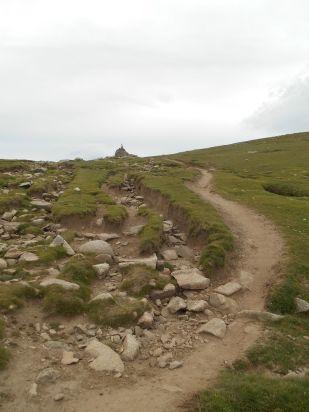 Podejście na przełęcz.