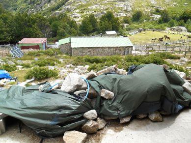 Suszenie namiotu.