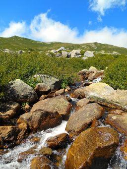 Następnie szlak prowadzi w pobliżu Punta de Valle Longa (2281 m) oraz Punta Orlandinu (2273 m). Po przejściu wzdłuż grani Pietraghjone dochodzę do przełęczy Bocca di u Prunu (1972 m).