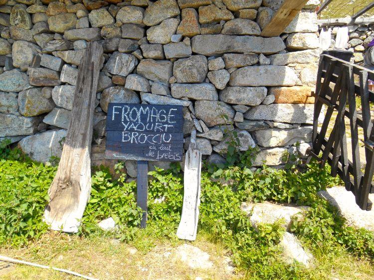 Z przełęczy droga wiedzie w dół dwieście metrów, aby doprowadzić mnie do Bergerie d'I Pozzi. Korzystam z przerwy i kosztuję naturalnego jogurtu.