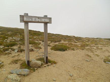 Przełęcz Bocca d'Oru (1840 m), z której wg przewodnika rozpościera się ładny widok. Tym razem muszę uwierzyć przewodnikowi na słowo.