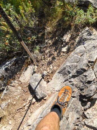 Zbliżam się powoli do ostatniej przełęczy GR20 Bocca d'Usciolu.