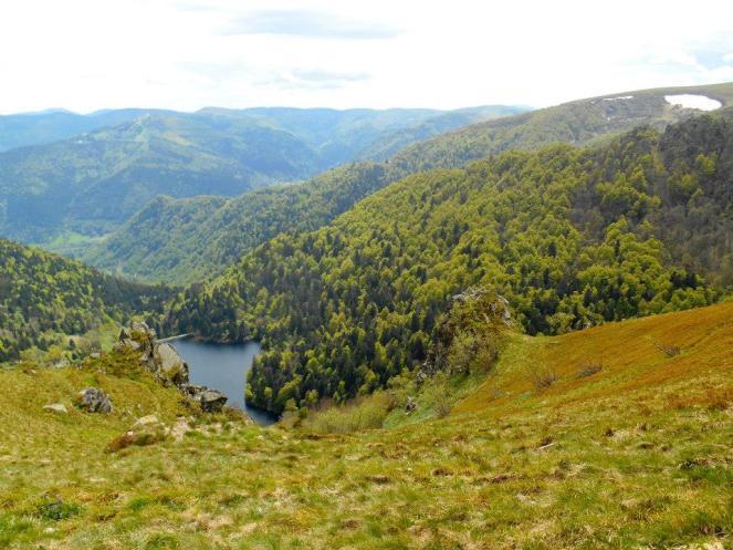 Widok na jezioro Schiessrothried.