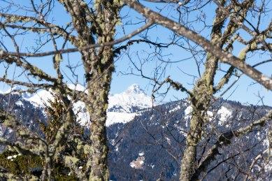 Najwyższy szczyt masywu Aravis - Pointe Percée (2750 m).
