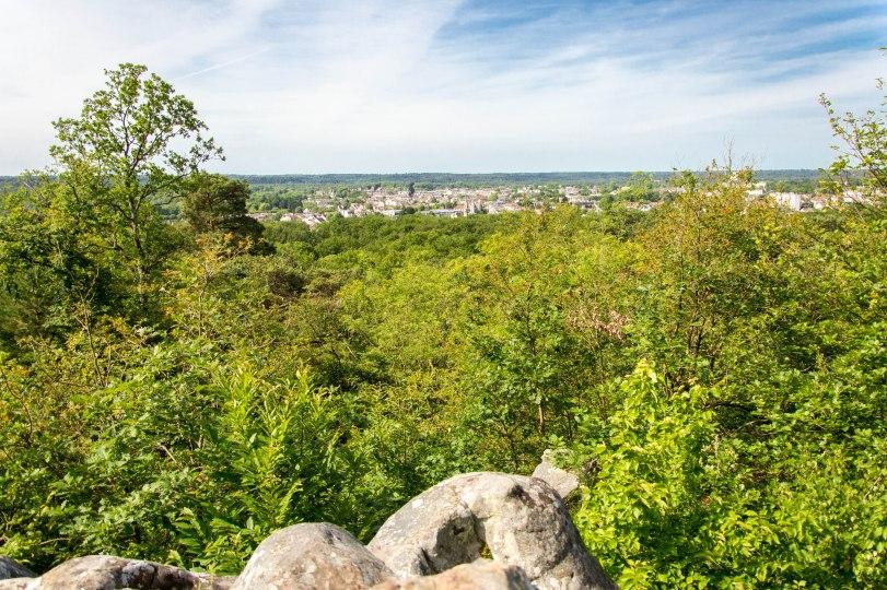 Z miejsca, na którym wznosi się krzyż, widok rozpościera się na południe w stronę Fontainebleau.