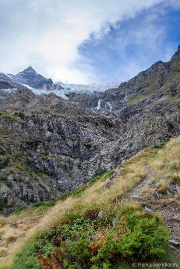 Pierwsze spojrzenia na lodowiec Bisgletscher.