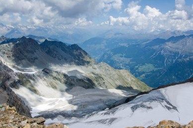 Widok w stronę doliny St. Niklaus.