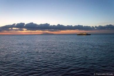 Dopływając do portu Bastia.