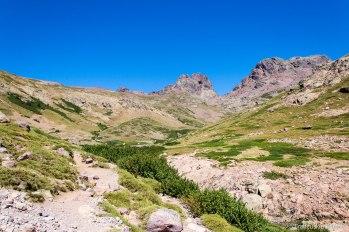 Dwa słynne szczyty - Capu Tafunatu i Paglia Orba.