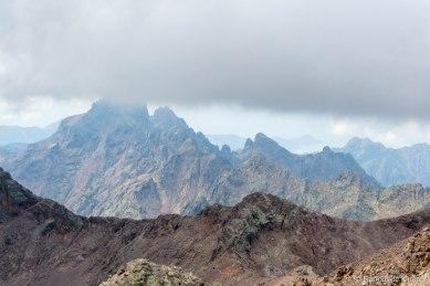 Paglia Orba - szczyt w chmurach.