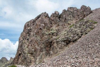 Capu Borba - ściana zachodnia.