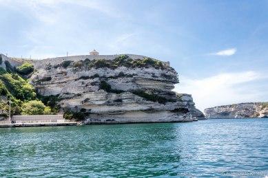 Wypływamy z Bonifacio.