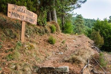 Początek szlaku w kierunku szczytu Monte d'Oro .