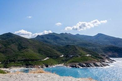 Kierunek Saint Florent wzdłuż zachodniego wybrzeża Cap Corse.