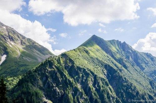 Widok na Mont Vorassay i przełęcz Tricot.