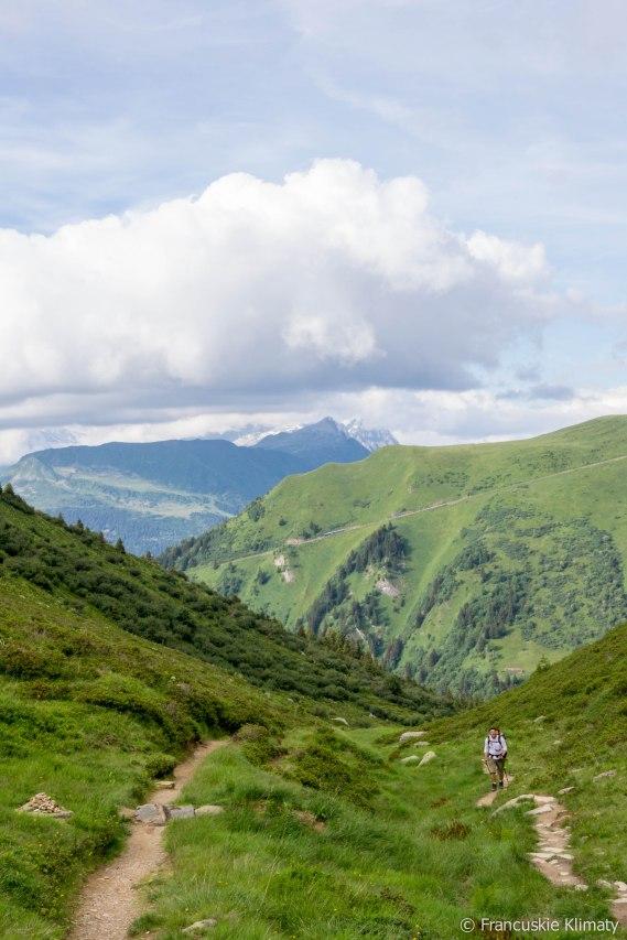 Podejście na przełęcz Tricot.