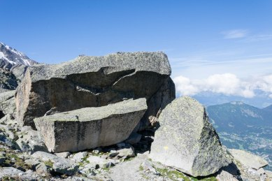 Miejsce biwaku pierwszych zdobywcow mont Blanc w 1786 roku.