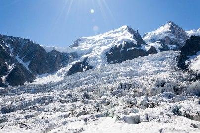 Col du Midi, Mont Blanc du Tacul i Mont Maudit.