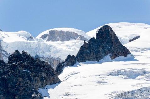 Schronisko - Grands Mulets (3051 m).