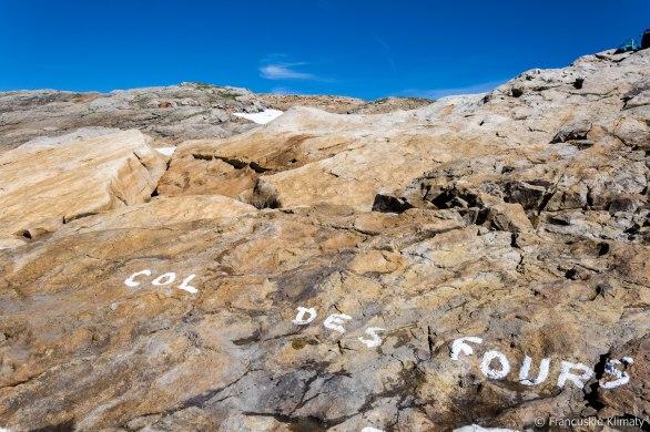 Col des Fours (2665 m) - w drodze na szczyt Tête Nord des Fours (2756 m).