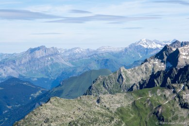 Masyw Fiz, grań prowadząca z przełęczy Anterne do Mont Buet.