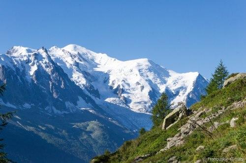 Mont Blanc, Dôme du Goûter (4304 m) oraz Aiguille du Goûter (3863 m).
