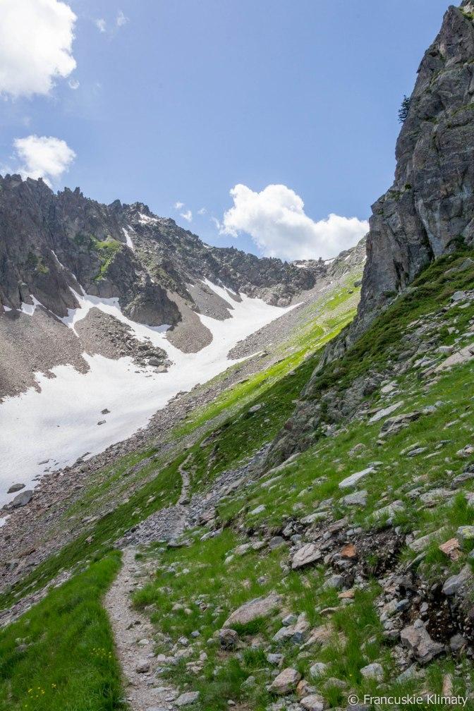 W kierunku Col de la Glière (2461 m).