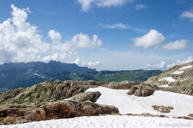 Masyw Fiz oraz grań prowadząca od przełęczy Col d'Anterne do Tête de Moëde, Tête de Villy i Grenier de Villy.