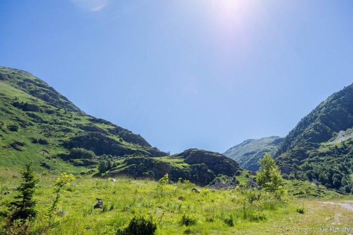 W drodze na przełęcz Sarenne.