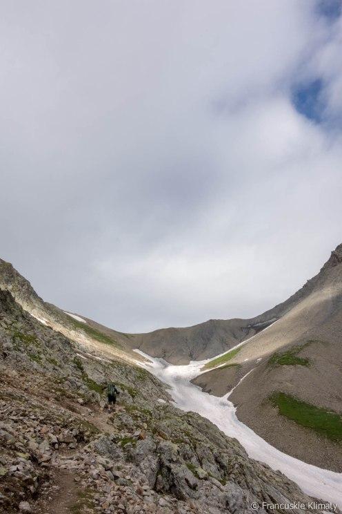 Pierwsze podejście na przełęcz - Col de la Valette (2668 m).