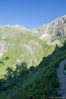 Widoczna przełęcz - col de la Vaurze.