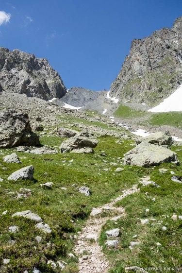 Podejście na przełęcz Muzelle.