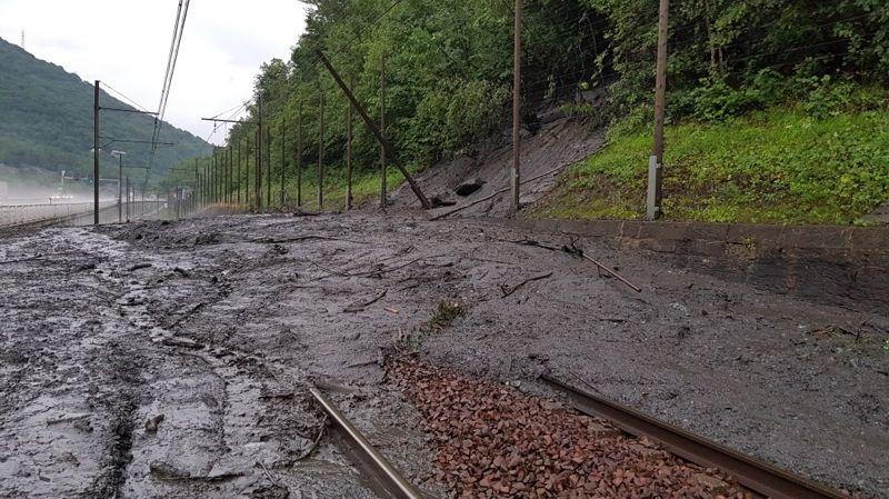 Coulée de boue St Jean - Modane