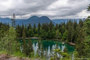 Zielone jezioro (Lac Vert).